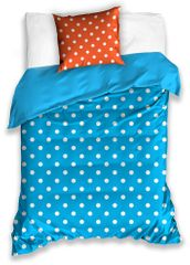 BedTex bombažna posteljnina Spot, modro-oranžna, 140x200