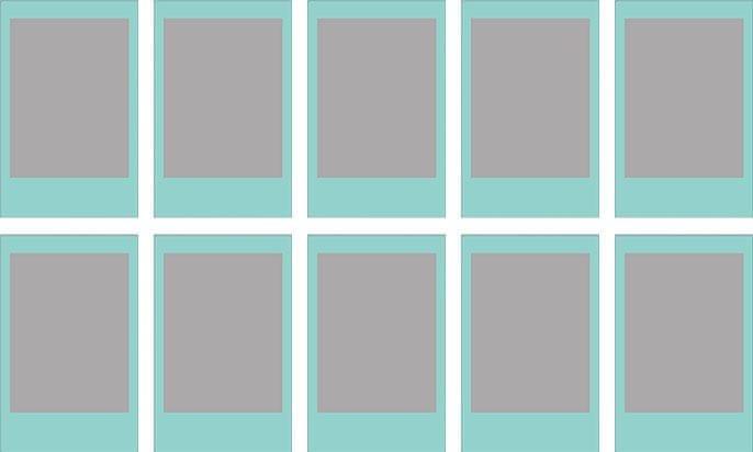 FujiFilm Instax Film Mini Blue frame (10 ks)