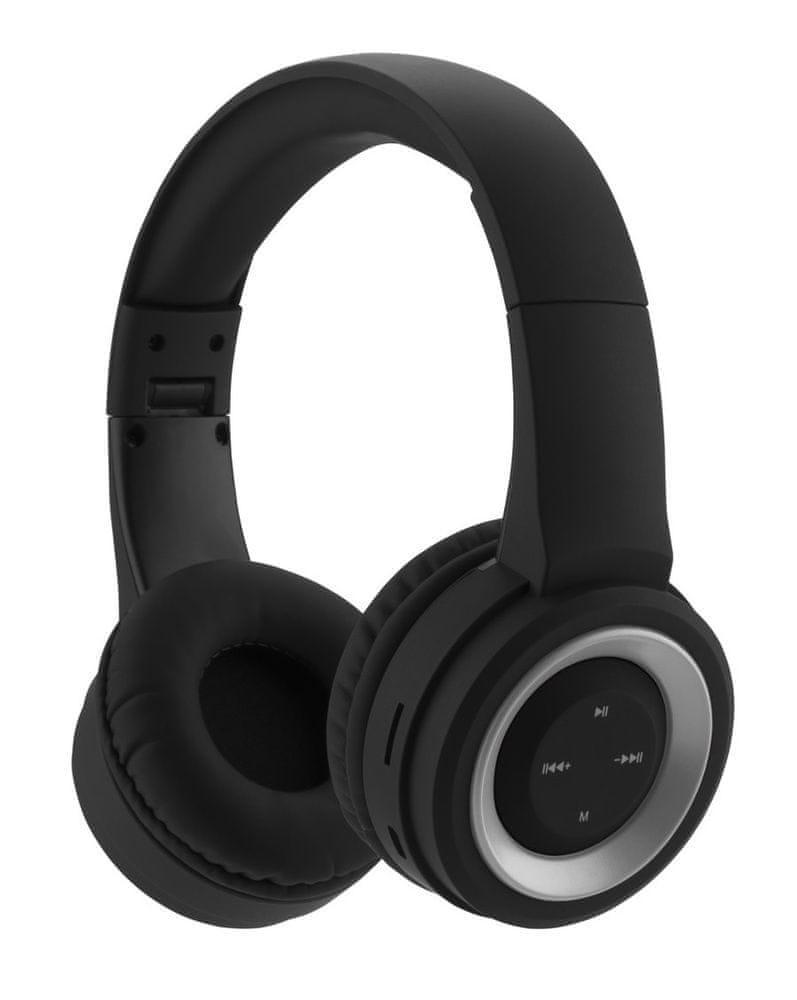 GoGEN HBTM 31S bezdrátová sluchátka, černá/stříbrná