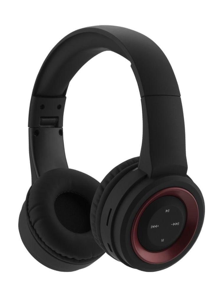 GoGEN HBTM 31R bezdrátová sluchátka, černá/červená