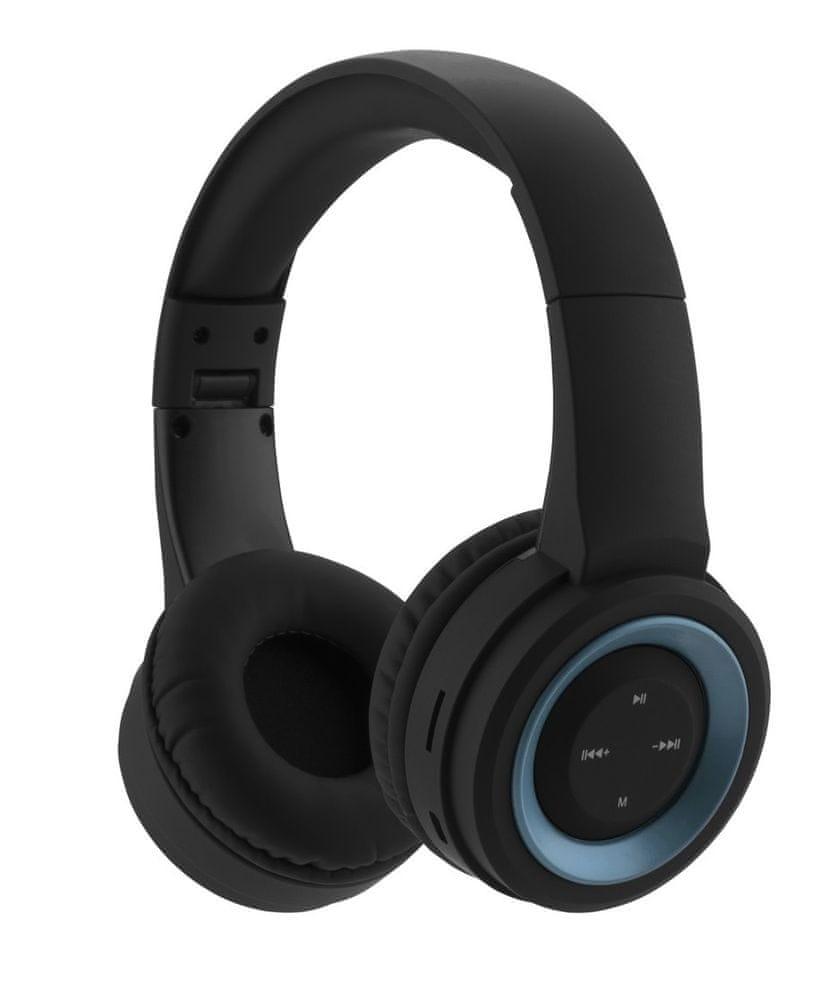 GoGEN HBTM 31BL bezdrátová sluchátka, černá/modrá