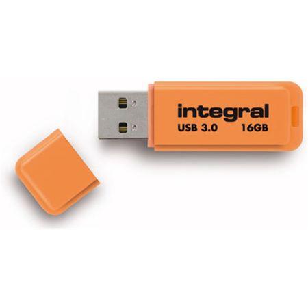 Integral USB ključek Neon 16GB USB 2.0, oranžen