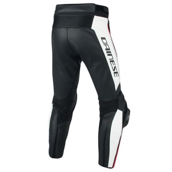 Dainese kalhoty MISANO vel.50 černá/bílá/fluo červená, kůže