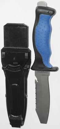 SOPRASSUB Nůž Titanium bez hrotu, modrý