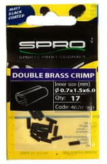Spro Matt Black Double Brass Crimp 17 ks