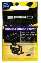 Spro Matt Black Double Brass Crimp 17 ks