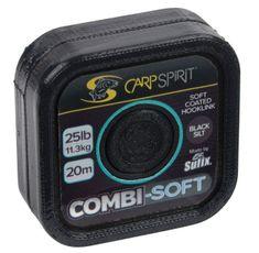 Carp Spirit Návazcová Šňůra Combi Soft Black Silt 20 m