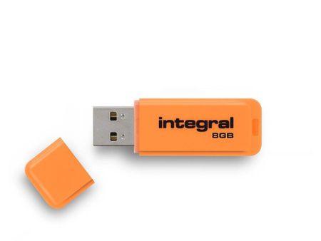 Integral USB ključek Neon 8GB USB3.0, oranžen