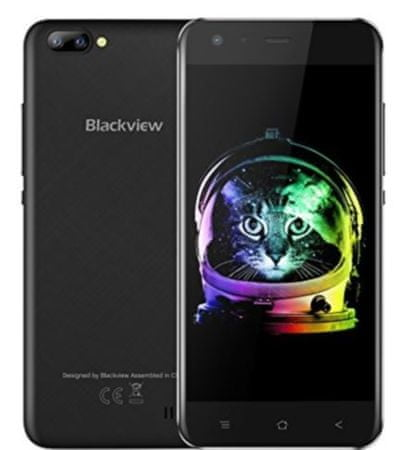 iGET mobilni telefon Blackview A7, črn + Darilo: etui
