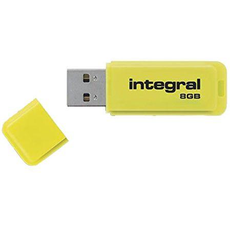 Integral USB ključek Neon 8GB USB3.0, rumen