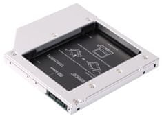 Orico adapter za SSD/HDD v 12,7mm DVD režo, SATA3, Aluminij