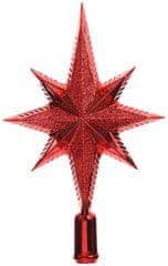 Kaemingk Špica za jelko zvezda, rdeča