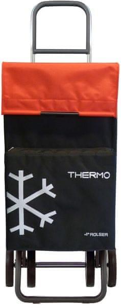 Rolser Nákupní taška na kolečkách Termo Fresh MF Dos +2, červená