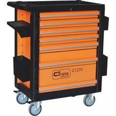 CORONA Montážní vozík na nářadí 7 zásuvek, 268 ks