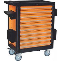 CORONA Montážní vozík na nářadí, 10 zásuvek, 386ks (C1276)