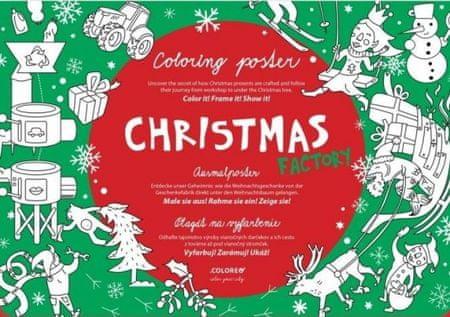 Abaffy Tero: CHRISTMAS FACTORY Plagát - Omaľovánka