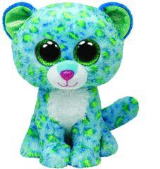 TY LEONA modri leopard, 24 cm