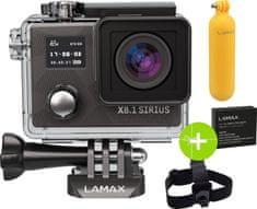 LAMAX X8.1 Sirius + čelenka + plovoucí grip + náhradní baterie