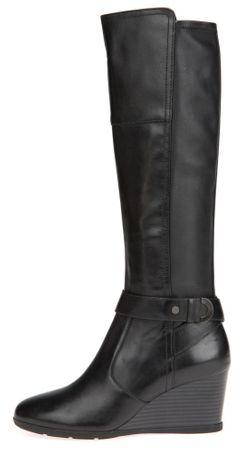 Geox ženski škornji Inspiration Wedge 38 črna