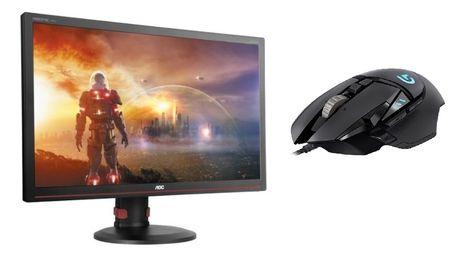 AOC Gaming monitor G2770PF + Logitech Gaming miška G502 Proteus Spectrum