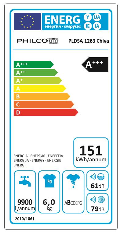 Philco pračka PLDSA 1263 Chiva + bezplatný servis 36 měsíců - zánovní
