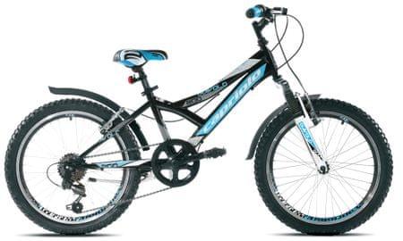 """Capriolo otroško gorsko kolo MTB Diavolo 200 FS z 29,1 cm (11,5"""") okvirjem, modro-črno"""