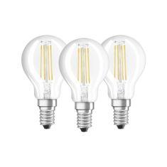 Osram E14 4W/2700K 470 Lumen filament kisgömb LED fényforrás csomag