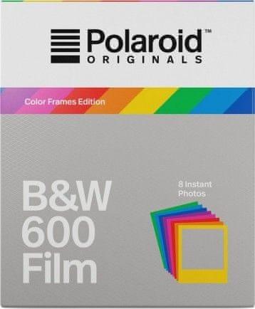 POLAROID Originals 600 Black/White 8 ks + barevné rámečky