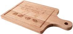 Orion Prkénko dřevo Dekor 38x21 cm
