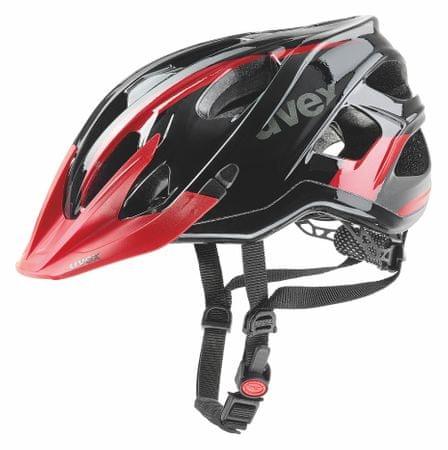 Uvex kask rowerowy Stivo C Black/Red 52-57