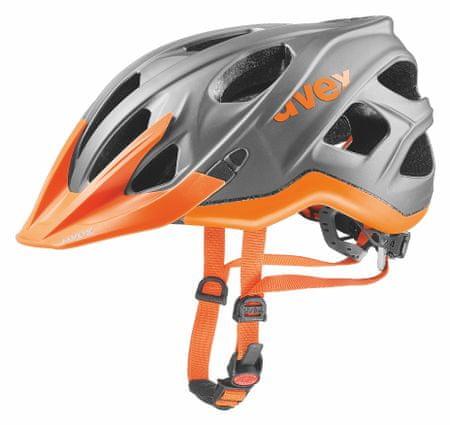 Uvex kask rowerowy Stivo CC Grey/Neon Orange 57-61