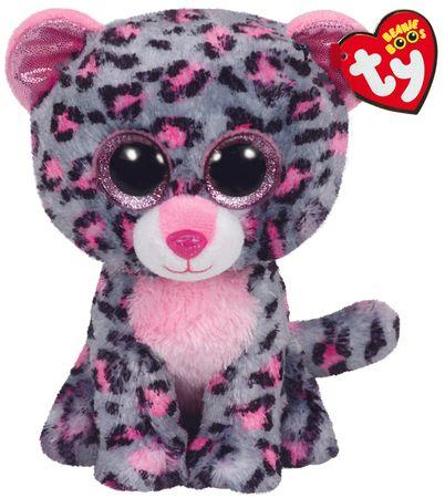 TY TASHA roza leopard, 24 cm