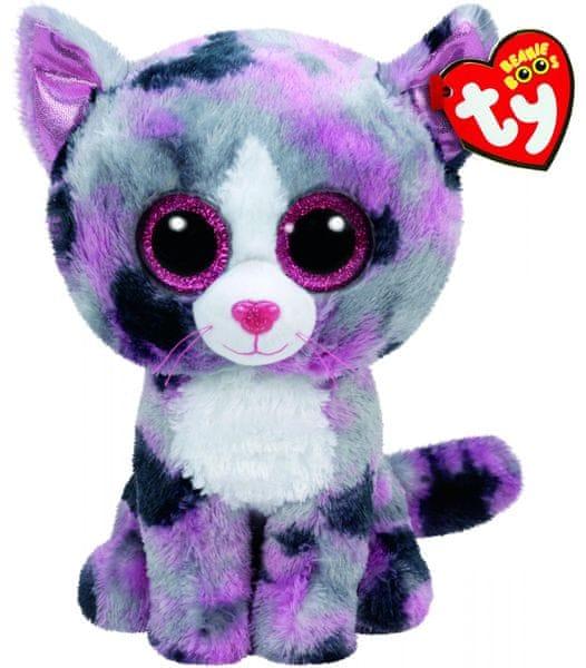 TY LINDI růžová kočka 24 cm