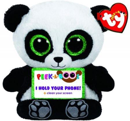 TY POO panda, držalo za telefon, 14 cm