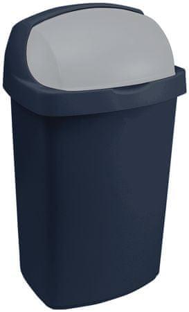 Curver Koš za smeti Roll top 50 L, moder