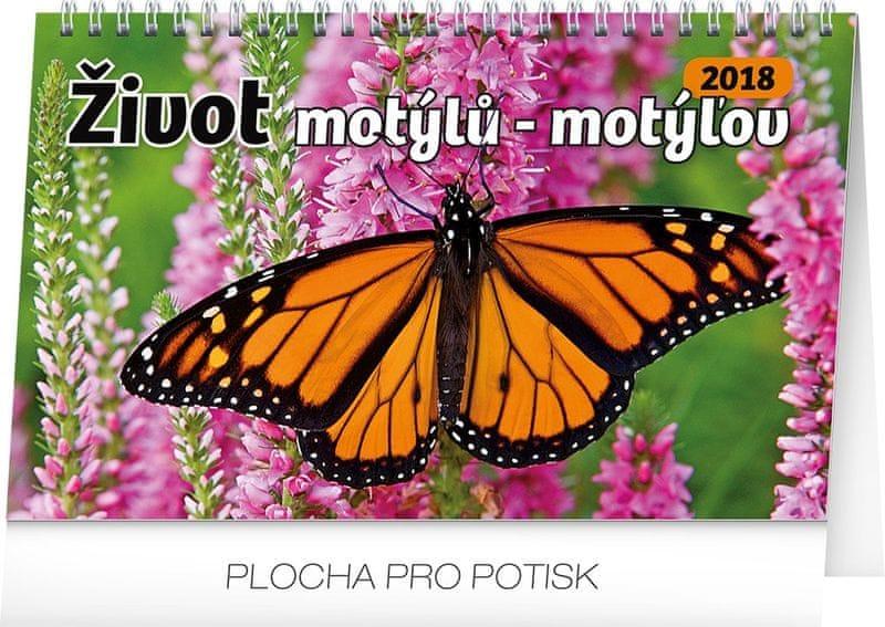 Stolní kalendář Život motýlů – motýlov CZ/SK 2018
