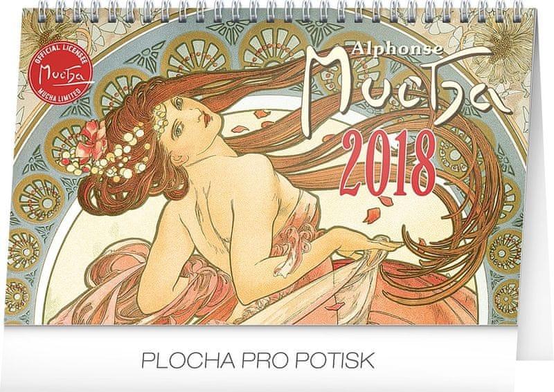 Stolní kalendář Alfons Mucha 2018
