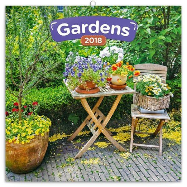 Poznámkový kalendář Zahrady 2018