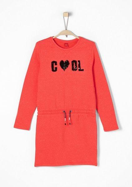 s.Oliver dívčí šaty 164 červená
