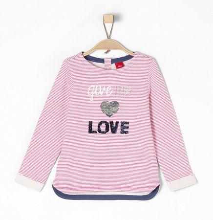 s.Oliver lány pulóver 128/134 rózsaszín