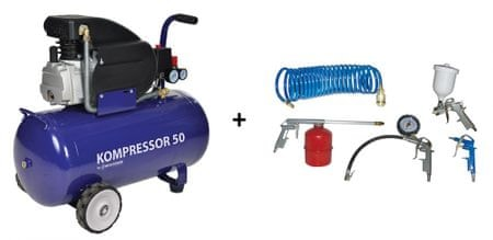 REM POWER kompresor Blue 50 L + pnevmatski set 5 S