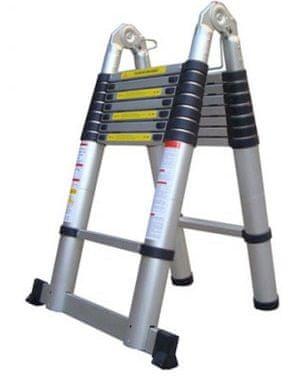 G21 Teleskopický žebřík / štafle GA-TZ12-3,8