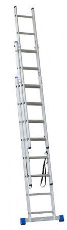G21 3-dielny rebrík, 3 x 11 priečok, 7,3 m