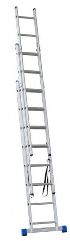G21 3-dílný žebřík, 3 x 11 příček, 7,3 m