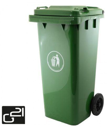 G21 Tmavě zelená popelnice GA-120 L