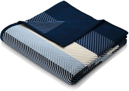 Biederlack koc Fashion and Comfort Blue Stripe, 150x200 cm