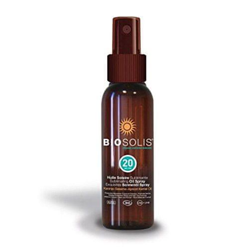 Biosolis Hydratační a sublimační opalovací olej SPF 20 (Sun Oil Spray) 100 ml