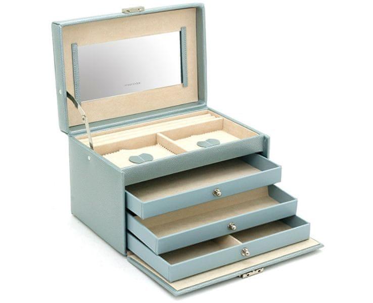 Friedrich Lederwaren Šperkovnice světle modrá/béžová Jolie 23255-54