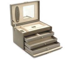 Friedrich Lederwaren Šperkovnice šedá/béžová Classico 23236-90