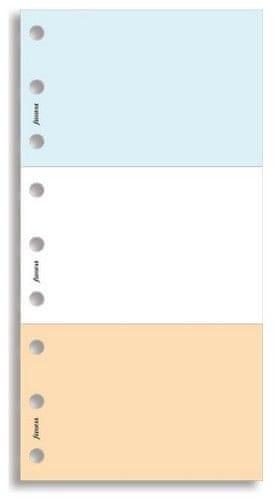 Náhradní náplň do diáře Filofax Osobní 3 barevné poznámkové bločky